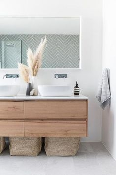 Investment bathroom showcasing Tasmanian Oak Staples Vanity - Carrningbah