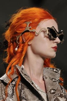 Bright Orange Hair, Vivienne Westwood Style