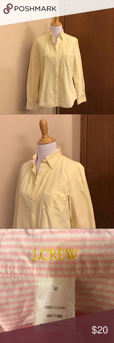 J. Crew Yellow Button Down This is a thicker fabric shirt in good used condition J. Crew Tops Button Down Shirts