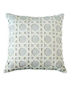 Canning Lattice Overlay Pillow - Natural