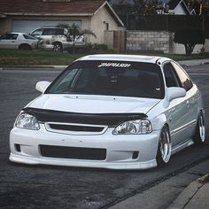 You must see the HP on this. Check it out here! 1999 Honda Civic, Honda Civic Coupe, Honda Civic Type R, Ek Hatch, Slammed Cars, Jdm Cars, Civic Jdm, Honda Civic Hatchback, Honda Cars