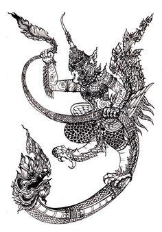 garuda and naga by *nutJT on deviantART