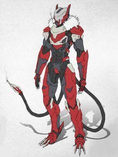 Varon Concept by Seig-Verdelet on deviantART Robot Concept Art, Armor Concept, Character Concept, Character Art, Mecha Suit, Arte Robot, Mekka, Futuristic Armour, Sci Fi Armor