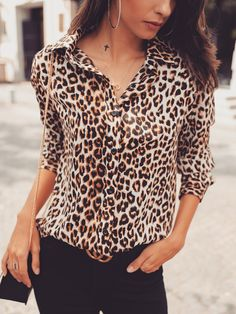 4912be6a6ffa7 Shop Long Sleeve Leopard Print Casual Shirt – Discover sexy women fashion  at Boutiquefeel Fashion 101