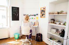 workspace, workshop, desk, homeoffice, office, interior design, interiors, colorful, photo: Zenja blog