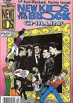 New Kids On The Block Chillin' (1990 series) #1 by Harvey Comics