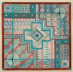 Laura Perin geometric needlepoint
