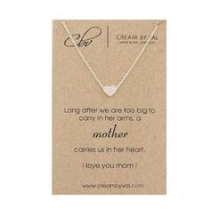 Items similar to Sterling Silver Heart Necklace For Mother's Day Gift Idea Love You Mom Message Jewelry For Mama On Her Birthday Meaningful 925 Love Necklace on Etsy