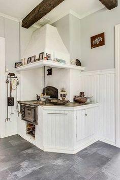 Swedish Kitchen, Old Kitchen, Rustic Kitchen, Kitchen Stories, Interior Decorating, Interior Design, Herd, Tiny House Design, Kitchen Essentials