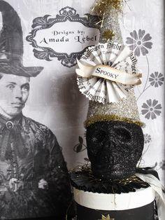 Wicked Whimsies Black Glitter Skull