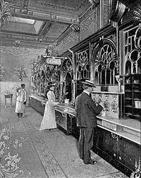 Horn & Hardart - Automat at 818-820 Chestnut Street, Philadelphia, Pennsylvania as shown in a postcard (1904)