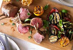 Hayden Quinn's roasted lamb rack with char-grilled vegetables and mashed potato for Beefandlamb.com.au.