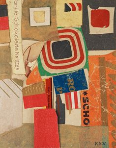 Kurt Schwitters (1887-1948)Untitled (Vanlilla Chocolate No. 103c) 1921collage of paper mounted on paper 13 x 10 cm