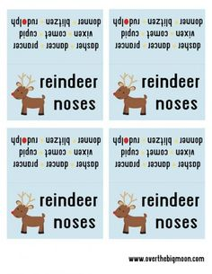 Reindeer Noses Free Printable - such a fun printable to help create a small gift for kids!