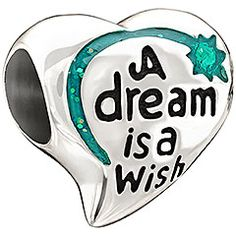 Material: Sterling Silver, Enamel Celebrate this iconic quote from one of Disney's most beloved princesses by adding the beautiful A Dream Is A Wish bead to your jewelry. We all have a little Cinderella in us, don't we?