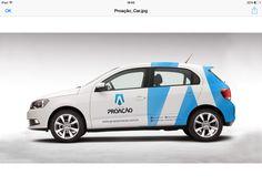 Frota Grupo Proação Van Signage, Volkswagen Up, Vehicle Signage, Van Wrap, Car Logos, Car Advertising, Sweet Cars, Car Brands, Small Cars