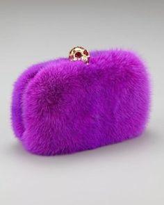 Purple Fur Alexander McQUeen