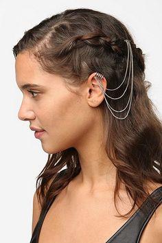 Hair Comb Cuff Earring