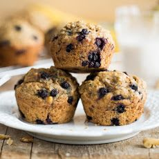 Blissful Blueberry Banana Spelt Muffins (vegan + refined sugar-free) Recipe