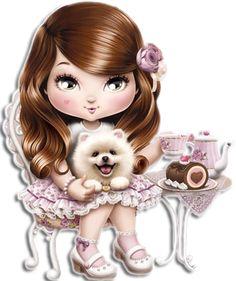 "Photo from album ""mix"" on Yandex. Illustration Mignonne, Cute Illustration, Adorable Petite Fille, Kawaii, Cute Owl, Big Eyes, Illustrations, Cute Cartoon, Paper Dolls"