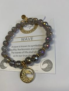 GRAPHICS /& MORE Brain Waves Waving Funny Humor Silver Plated Bracelet with Antiqued Charm