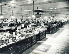 Birmingham Marks and Spencers Store 1933. The years between the wars saw M transform from Penny Bazaar to department store. These new 'superstores' were a whole new concept in shopping. © Marks and Spencers Company Archive