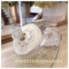 Pretty antique white and silver cookie jar by Countertop Couture @etsy $48  1 gallon capacity!