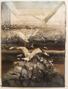 GALLERI – Sandgrund Lars Lerin Watercolour Tutorials, Watercolor Artists, Watercolor Animals, Watercolor Techniques, Art Techniques, Watercolor Paintings, Watercolours, Night Scenery, Inspirational Artwork