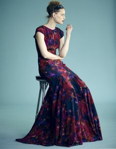 erdem. love the pleats and flare at the bottom.