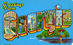 Greetings from Georgia - Large Letter Postcard | Flickr - Photo Sharing!