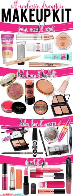 Look your best for less with this amazing drugstore makeup kit! #beauty #makeup