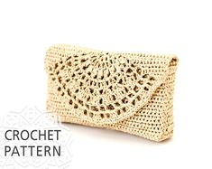 Crochet pattern summer Raffia bag, purse. PDF Pattern only - Not final product!!! Measurements: • length 18cm/7,09 • width 2,5cm/0,98 • height 10cm/3,94 Difficulty level: Intermediate Materials: • Yarns: RAPHIA KATIA 100% Viscose cellulose (50 g./1 oz. ¾, 115 mts./126 yds.) 150g. •