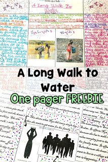 A Long Walk to Water One Page Assessment. Freebie.