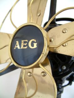 Rare AEG electric fan from 1908 designed by P.Behrens. We collect similar ones – Only/Once – www.onlyonceshop.com