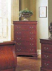 """Louis Phillipe Style Cherry Finish Wood Bedroom Storage Chest by Acme Furniture. $449.99. Bedroom->Chests and Dressers. Bedroom. Some assembly may be required. Please see product details.. 36""""W 18""""D 51""""H. Louis Phillipe Style Cherry Finish Wood Bedroom Storage Chest  Dimensions: 36""""W 18""""D 51""""H Finish: Cherry Material: Wood Louis Phillipe Style Bedroom Storage Chest Item is crafted from hardwood with quality and deigned with perfection to enhance the storage are..."""