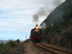steam train going through wilderness - Google Search