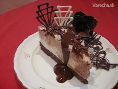Cheesecake s tmavou a bielou čokoladou (fotorecept)