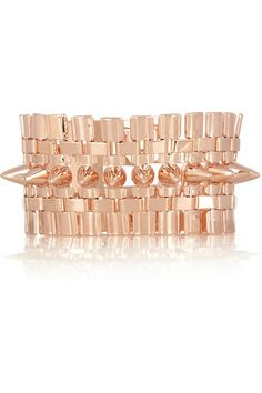 Eddie Borgo Legged rose gold-plated cone bracelet The Pink Frock Red Gold, Pink And Gold, Monica Vinader Ring, Eddie Borgo, I Love Jewelry, Clothes Horse, Rose Gold Plates, Pink Ladies, Gold Rings