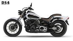 Yamaha Drag Star DS4.    https://translate.google.co.uk/translate?hl=en&sl=ja&u=http://www.yamaha-motor.co.jp/mc/sportsbike/ds4/&prev=search