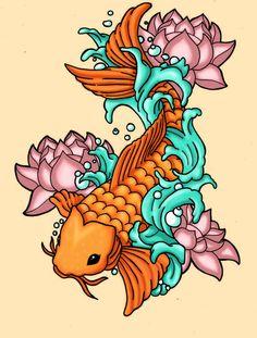 Future Koi Tattoo by PenthesileiaRavyn on DeviantArt Pez Koi Tattoo, Koi Tattoo Sleeve, Z Tattoo, Color Tattoo, Body Art Tattoos, Tatoos, Koi Tattoo Design, Tattoo Designs, Tattoo Ideas