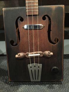 3 string cigar box guitar built by Michael Ballerini.