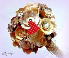 Bellavida / Babičkine dedičstvo pre Nevestu Mini Cupcakes, Paper Flowers, Bouquet, Desserts, Vintage, Food, Crafts, Meal, Bouquets