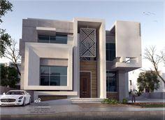 Render Design, Facade Design, Exterior Design, Contemporary House Plans, Modern House Design, Architecture Building Design, Interior Architecture, House Design Pictures, Bungalow Exterior