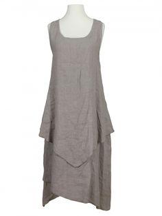 Damen Leinenkleid Lagenlook, schlamm von Diana bei www.meinkleidchen.de