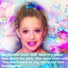 I love Mackenzie she is goals🤗🤗🤗 Dance Moms Quotes, Dance Moms Funny, Dance Moms Girls, Facts About Dance, Dance Moms Facts, Maddie And Mackenzie, Mackenzie Ziegler, Watch Dance Moms, Dance Moms Comics
