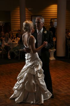 First dance with my daddy...LOVED my Maggie Sottero Fiorella from September's Bride in Holland, MI!!!
