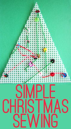 Simple Christmas Sewing Activity for Kids
