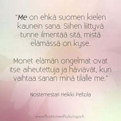 Heikki Peltola positiivinen psykologia