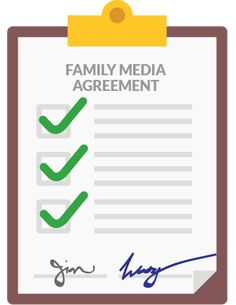 This family media agreement by Commons Sense Media is age-appropriate, customizable, and spot-on!