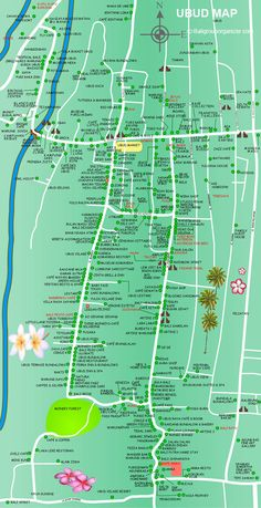 Ubud Map is a map of tourist information about Ubud Village and surrounding area located in the middle of Bali Island. Please see all the detail on the map. Bali Lombok, Bali Travel Guide, Asia Travel, Travel Tips, Travel Guides, Disneyland Paris, Ubud Indonesia, Bali Baby, Philippines